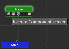 SketchFlow Map Insert a Component Screen