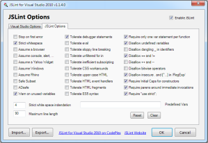JSLint for Visual Studio 2010 Extension