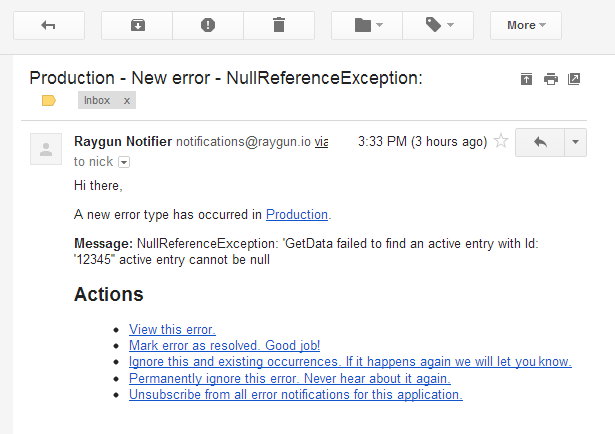 raygun email example
