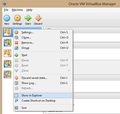 virtual box UI